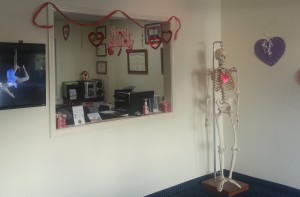 Front Desk and Bill the Skeleton!